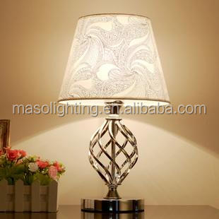 2017 Modern Nordic Home Fabric Table Lamp Hotel room Decorative Chrome Black Iron Table lamp