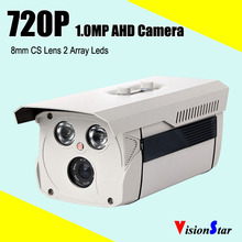 1000tvl excellent image vision 8mm cs lens 1mp osd menu 2pcs array leds ip66 waterproof bullet cctv 720p ahd camera for outdoor
