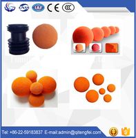 Hot offering schwing concrete pump spare parts / accessories DN125 hard rubber cleaning spong ball / bullet