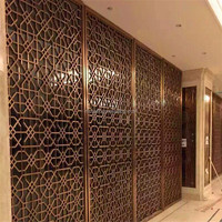 construction building stainless steel dubai room divider screen metal work project
