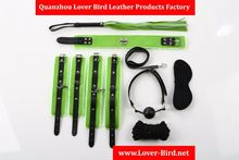 Factroy Sex Products Adult Games 7piece/ lot PVC Leather Sex Bondage Restraint,Handcuff Gag Sexy Bondage,Whip Collar Erotic Toy