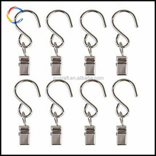 Metal Curtain Clip Shower Curtain Rings With S Hook