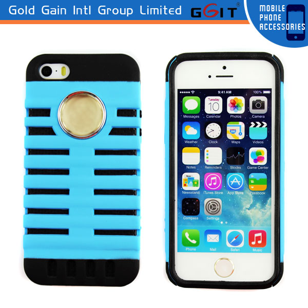 2 in 1 microphone Design TPU+PC Back Cover for iPhone 5G cell phone case