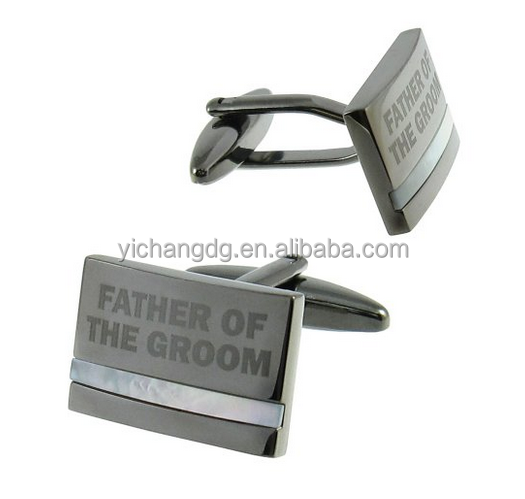 Cuff-Daddy Father of the Groom Cufflinks with Mother of Pearl Cuff Links