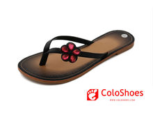 Coface high quality pu upper ladies flat thong slipper