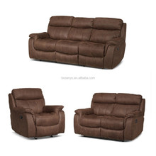 Modern heated leather sofa recliner