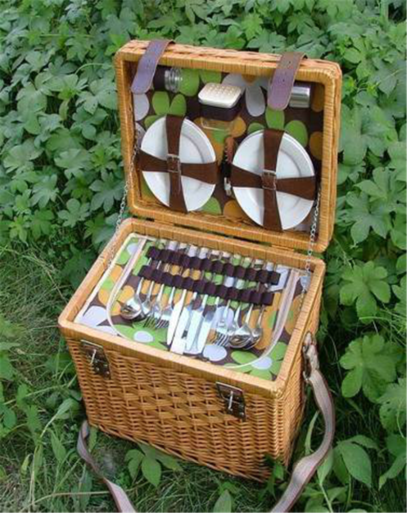 Cheap Picnic Basket For 4 : Wholesale wicker picnic basket with lid person
