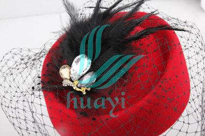 ladies red dress church hats wholesale