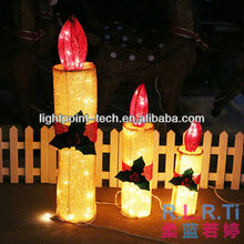 Christmas candle decoration with LED lights/hotel decorate use