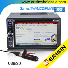 "Erisin ES890G 6.2"" 2 Din Car DVD Radio Player 3G TV GPS Navigation"
