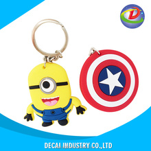 Custom high quality soft pvc keychains , pvc key chain