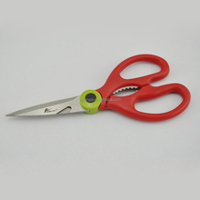 "A9010PP 8.25"" best design Kitchen Scissors/red color handle"