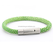 Fashion brand alibaba wholesale bangkok stingray skin bracelet,stingray skin jewelry,genuine stingray leather bracelet