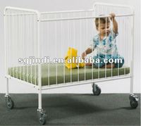 powder coating metal baby cots for hospital