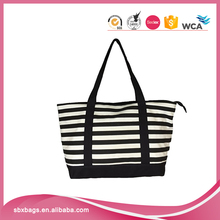 2017 hot sale printed cotton canvas shopping tote hand bag for women handbag
