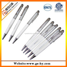 Promotional business pen ,custom metal gift pen with acrylic crystal