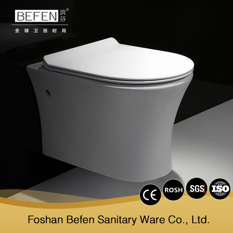 All types sanitary ware women porcelain wc wall mounted toilet P-trap