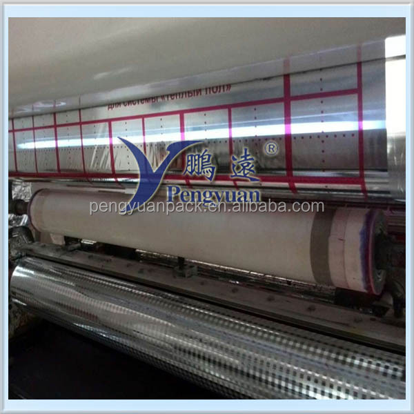 Soft Printed Metallized PET+PE Film to laminate bubble, PET/PE film