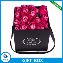 Custom Eco Friendly Luxury Romantic Flower Bouquet Boxes/Square flower Packaging Box