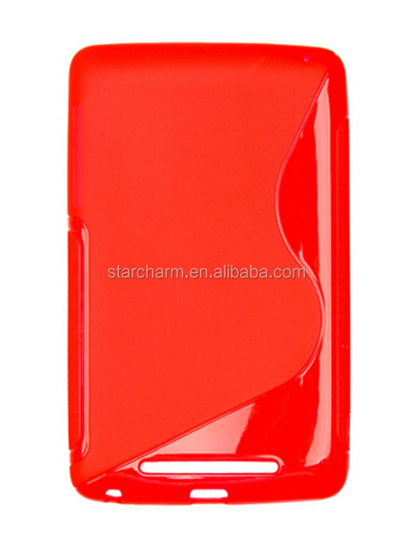Translucent S Line TPU Gel Silicone Case Cover for Google Nexus 7 Inch Tablet