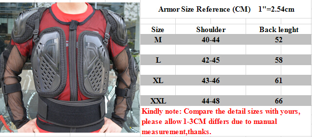 2018 Motocross Body Armor XS- XXL motorcycle wear Motorcycle Downhill MTB
