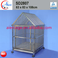 commercial dog cage/stainless steel dog kennel with roof of best performance