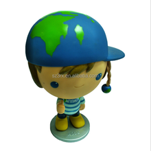 Produce custom cute 4 inch blue outfits postman PVC action figure