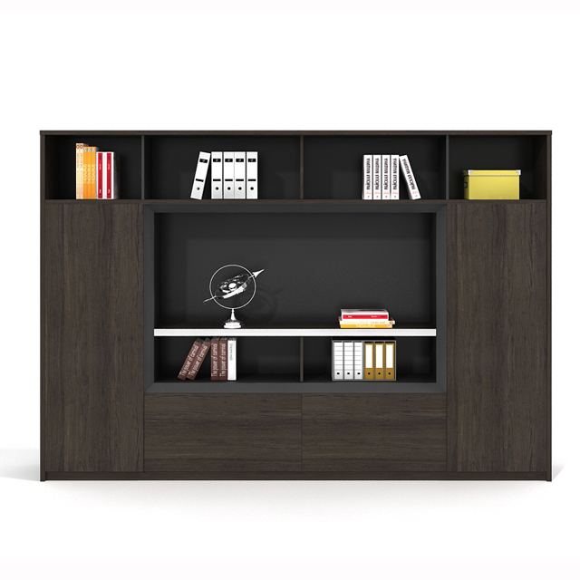 black <strong>oak</strong> color 2 doors office cabinet <strong>furniture</strong>