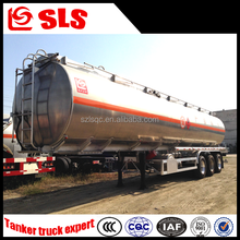 Tri-axle man diesel trailer truck with tank for fuel/oil/chemical