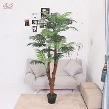 High quality custom made 1.7m 4 braches outdoor decor durable everlasting artificial date palm tree kwai plant