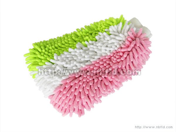 Top Quality 80% Polyester 20% Polyamide Chenille Car Cleaning Mitt