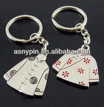 chinese charactor clothing design lovers key chains