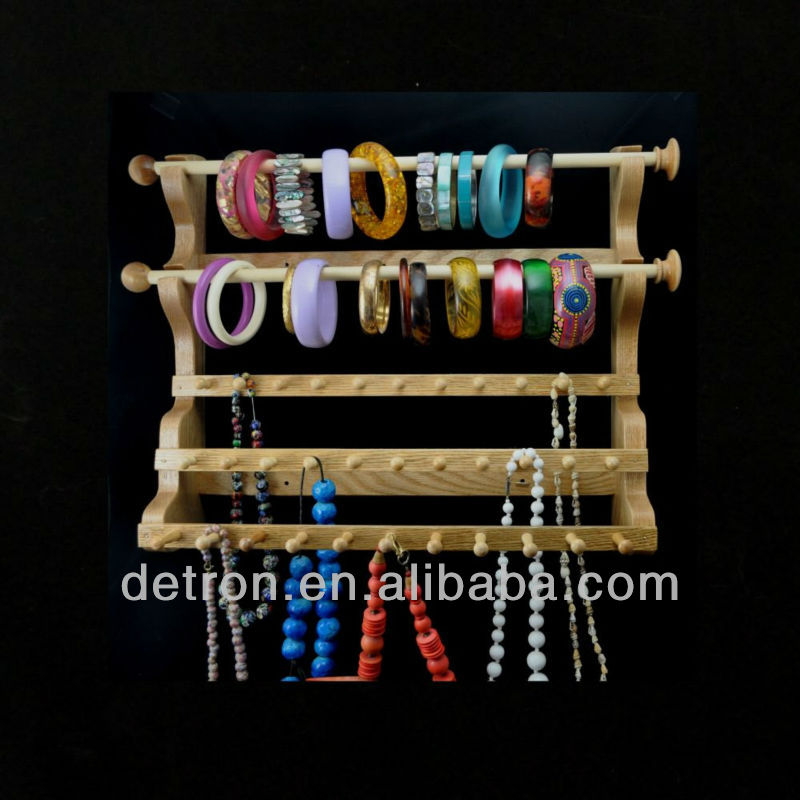 Modern-design wood bracelet display