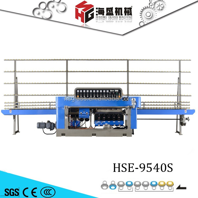HSE-9540S Mobile Glass Making Machine Applies To Crude & Fine Grinding, Polishing Complete In One Procession