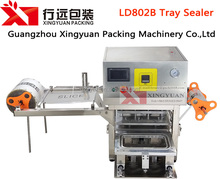 Plastic food container sealing with film machine high speed with top quality