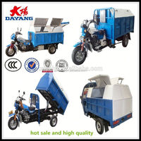 Customized best price bottom price dump rubbish motor tricycle for sale in Columbia