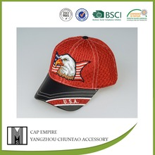 BSCI Audit usa flag and eagle polyester embroidered snapback cap producer