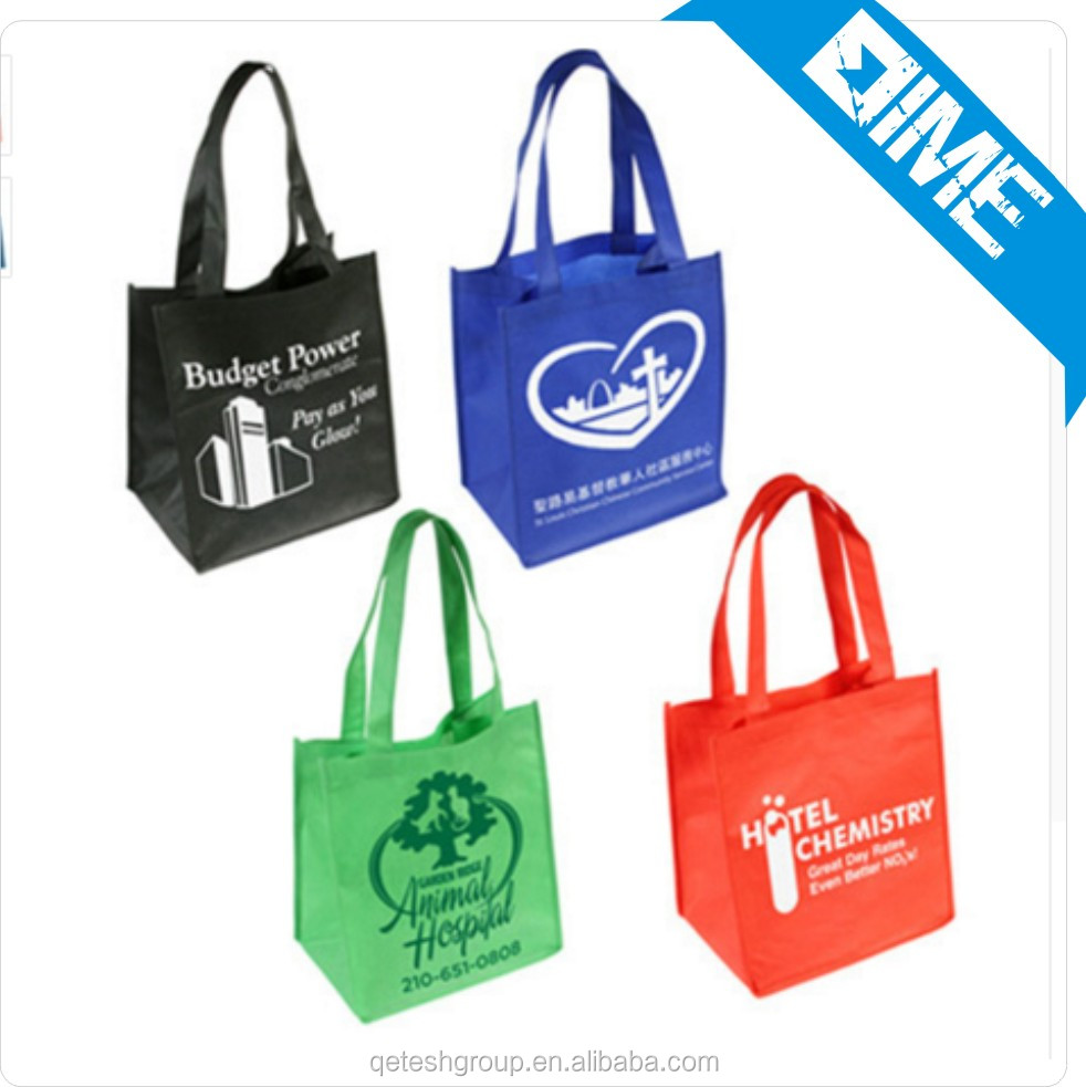 Over 12years Factory custom full color printed bopp laminated pp non woven bag