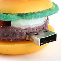 Hot selling food shape usb pen drive,hamburger usb 2.0 flash driver1-32gb