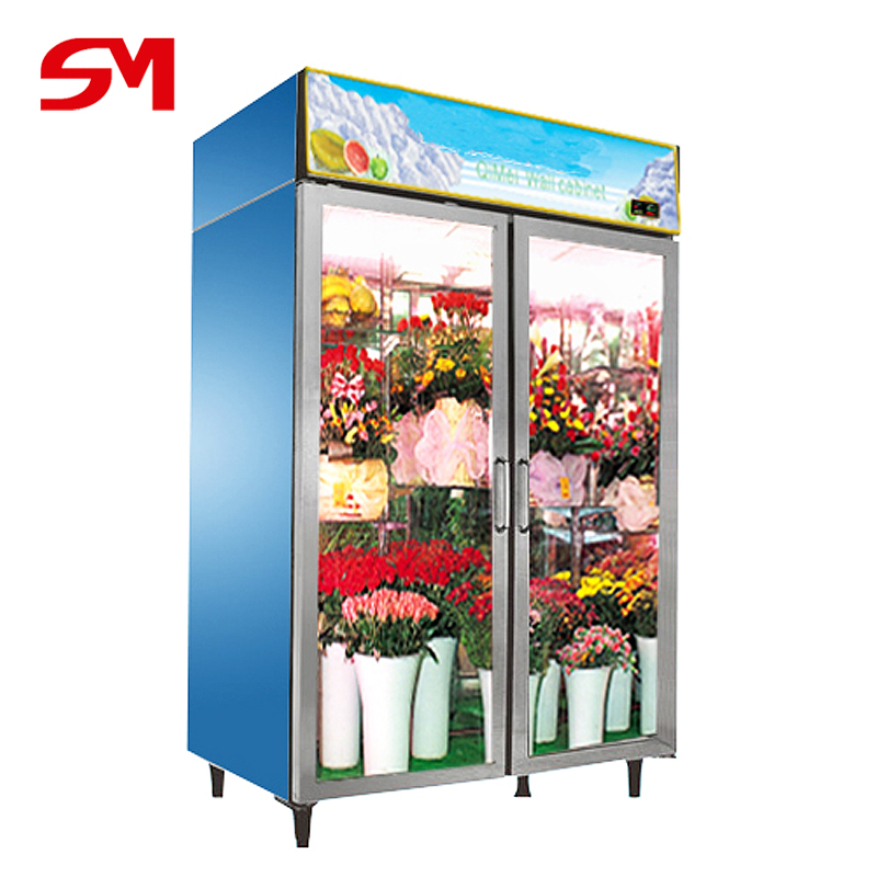 Superior quality advanced flower display cooler showcase