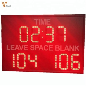 led scoreboard/7 segment led digit clock display/ led countdown timers-waterproof