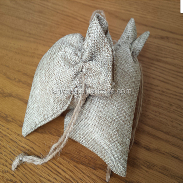 Wholesale Small Vintage Wedding Hessian Burlap Jute Favour Gift Bags