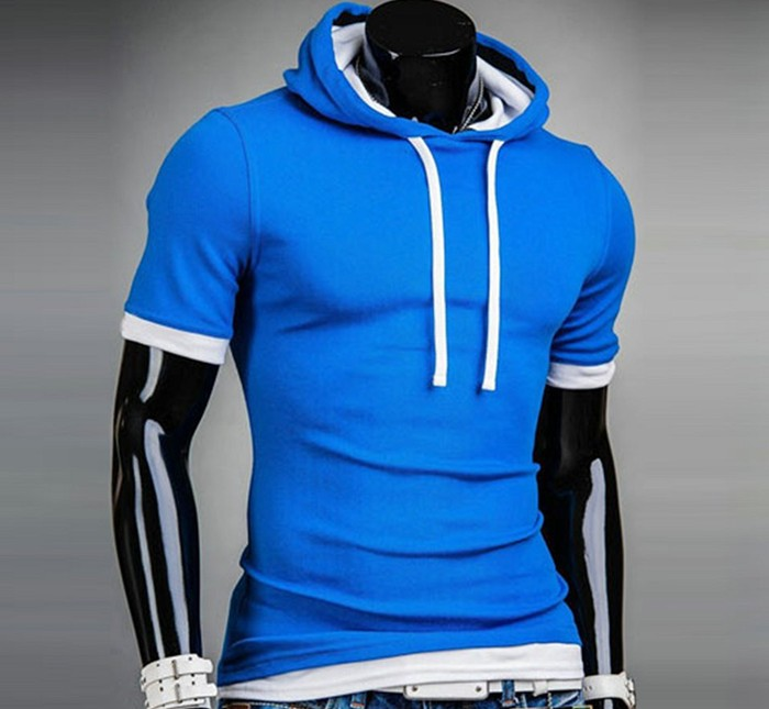 Casual T-Shirt Men Sport Suit Hip Hop Fitness Mens T Shirts Fashion 2016 New Men Model Clothes