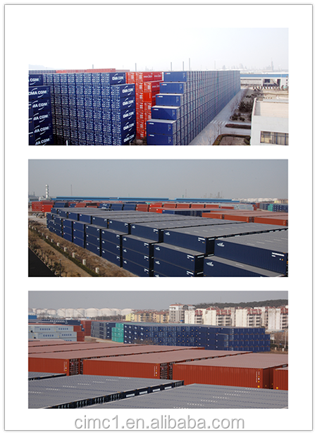 One way one belt 20ft dry cargo shipping container for railway transportation
