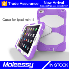 Latest designer waterproof for hot selling kid proof rugged tablet case for iPad mini 4