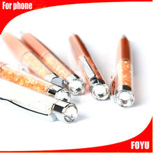 lower price colorful crystal stylus for mobilephone many colors stylus pen touch pen for phone