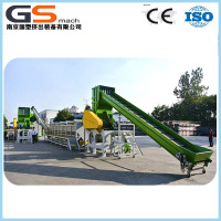 Plastic recycling machine for PE film
