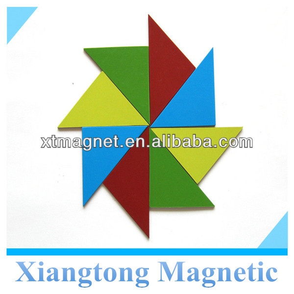 a set of triangle shape magnetic tangram