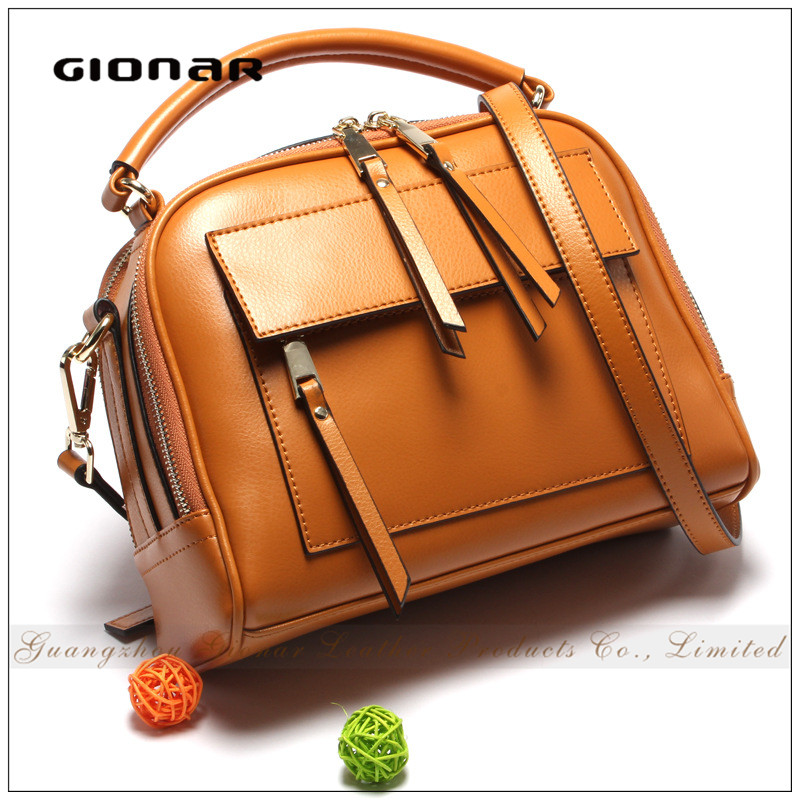 2016 Eco-Friend Brown Leather Shoulder Handbag Wallet Bag Street Collection