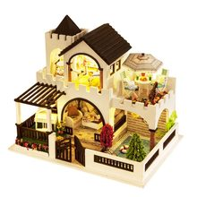 Handmade craft high quality diy wooden doll house parts for adults